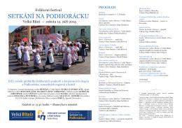 SETKÁNÍ NA PODHORÁCKU - folklorní soubory Žďár nad Sázavou