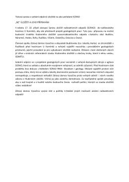 Tisková zpráva o setkání odpůrců úložiště na akci pořádané SÚRAO