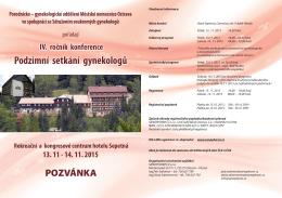 Podzimní setkání gynekologů