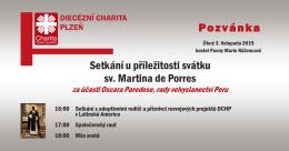 Setkání u příležitosti svátku sv. Martina de Porres Pozvánka