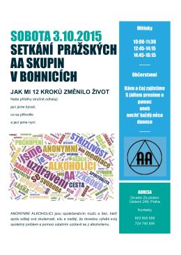 sobota 3.10.2015 setkání pražských aa skupin v bohnicích
