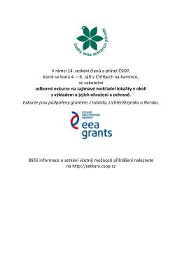 V rámci 14. setkání členů a přátel ČSOP, které se koná 4. – 6. září v