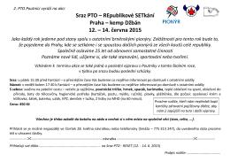 Sraz PTO – REpublikové SETkání Praha – kemp