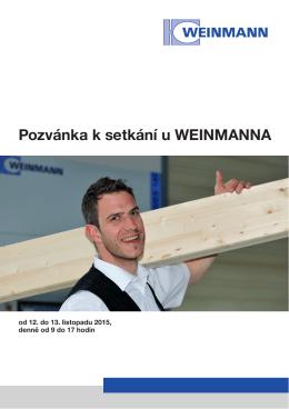 Pozvánka k setkání u WEINMANNA