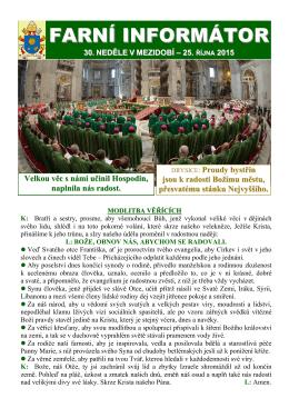farní informátor všech svatých – 1. listopadu 2015