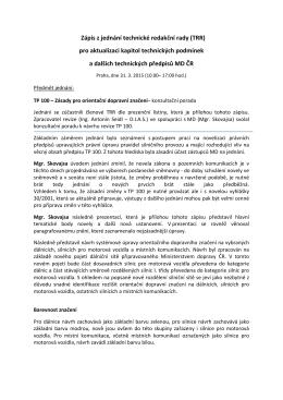 Zápis z jednání technické redakční rady (TRR) pro aktualizaci