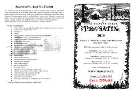 Přihláška na tábor 2015 - Letní stanový tábor Prosatín