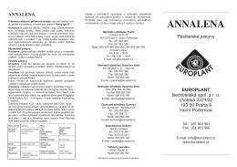 ANNALENA - EUROPLANT šlechtitelská, spol. s ro