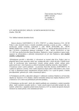 Úřad městské části Praha 6 Odbor výstavby Čs. armády 23 160 52