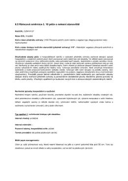 6.5 Rámcová směrnice č. 10 péče o nelesní stanoviště
