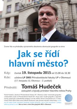 Přednáší: Tomáš Hudeček