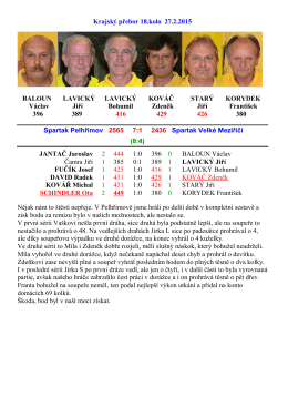 Krajský přebor 18.kolo 27.2.2015 BALOUN LAVICKÝ LAVICKÝ