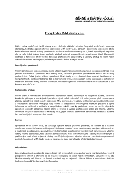 Etický kodex MM stavby vos
