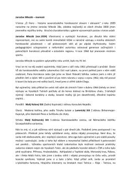 """Jaroslav Mlezák – memoár V knize """"Ó Horo"""
