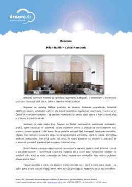 Recenze Milan Ballík – Lokál Hamburk