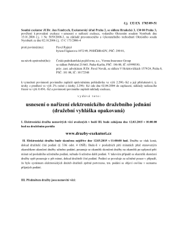 usnesení o nařízení elektronického dražebního jednání (dražební
