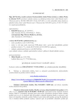 Č.j.: 054 EX 565/11 - 433 USNESEN Í Mgr. Jiří Nevřela