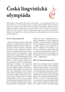Česká lingvistická olympiáda