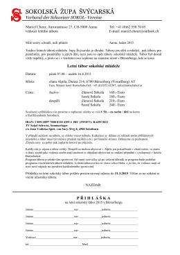 Přihláška pdf