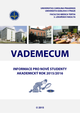informace pro nové studenty akademický rok 2015/2016