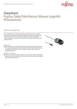 Datasheet Fujitsu Sada PalmSecure Mouse LoginKit Příslušenství
