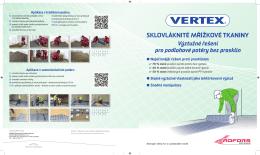 Katalog Stáhnout PDF - Proč používat Vertex Grid