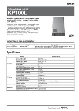 KP100L Katalogový list