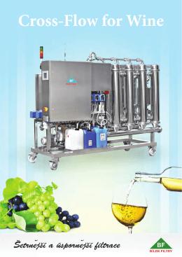 Crossflow filtrace vína FCW