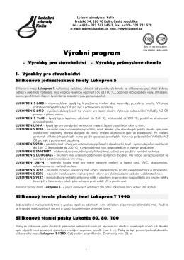 Výrobní program - Lučební závody a.s. Kolín