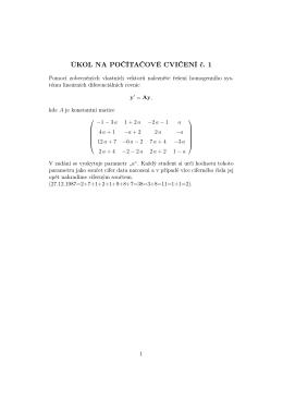 ÚKOL NA POČÍTAČOVÉ CVIČENÍ č. 1