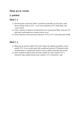 Úkoly pro 8. ročník 2. pololetí Úkol č. 1 Úkol č. 2