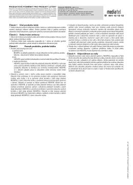 Článek 1 Účel produktu leták Článek 2 Doba trvání smlouvy Článek