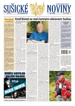 Emil Kintzl se stal čestným občanem Sušice