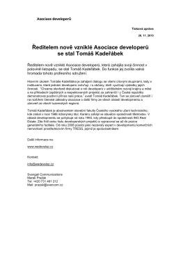 Více - Asociace Developerů