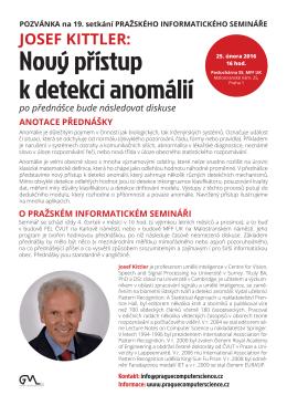 Poster - Nový přístup k detekci anomálií