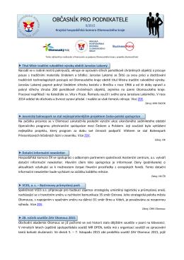 9/2015 - Okresní hospodářská komora v Prostějově