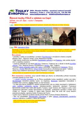 909 Řím-Kampánie - CK Toulky Evropou
