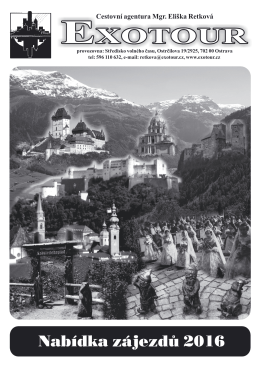 Katalog zájezdů 2016 ke stažení