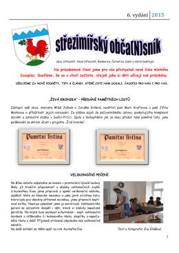 6. vydání - Obec Střezimíř