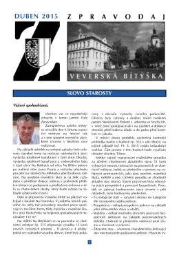Zpravodaj Mestyse Veverska Bityska - 04/2015