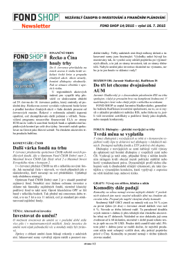 Newsletter FOND SHOP 14-2015