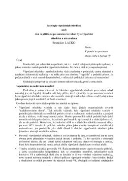 Patologie výpočetních středisek - Doc. Ing. Branislav LACKO, CSc.