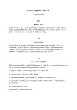 Stanovy - CZECH BUGATTI CLUB