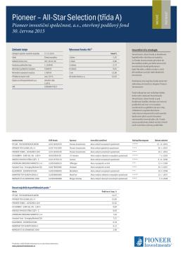 CZK - Pioneer Investments