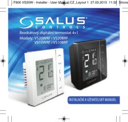 Bezdrátový digitální termostat 4v1 Modely - Salus