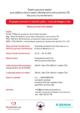 Česká asociace sester pod záštitou hlavní sestry Ministerstva