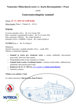 Gastroenterologický seminář - Nemocnice Milosrdných sester sv