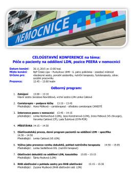 Program konference - Nemocnice s poliklinikou Česká Lípa