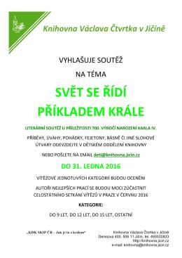 SVĚT SE ŘÍDÍ PŘÍKLADEM KRÁLE - Knihovna Václava Čtvrtka Jičín