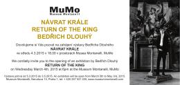 návrat krále return of the king bedřich dlouhý
